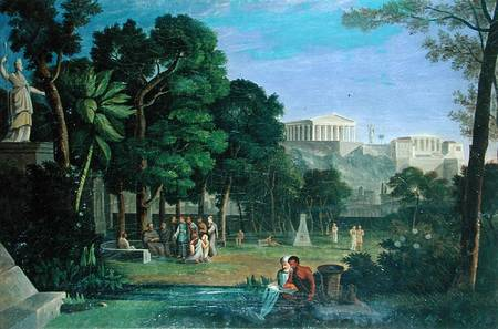 Antal Strohmayer - The Philosopher's Garden, Athens (1834)