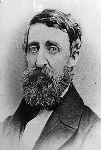 Henry David Thoreau (1817 – 1862), American Transcendentalist philospher and writer.