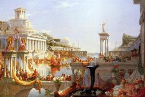 Thomas Cole (1836) - The Course of Empire.  Part 3: The Consummation of Empire