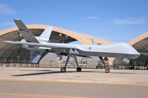 Drone (appears to be General Atomics MQ-9 Reaper)