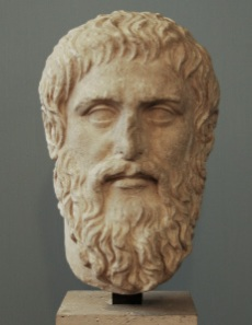 Portrait of Plato. Luni marble. Roman copy after a Greek original of Silanion. Inv. No. MC 1377. Rome, Capitoline Museums, Museum Montemartini.