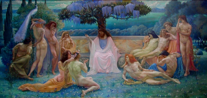 Jean Delville – The School of Plato photo